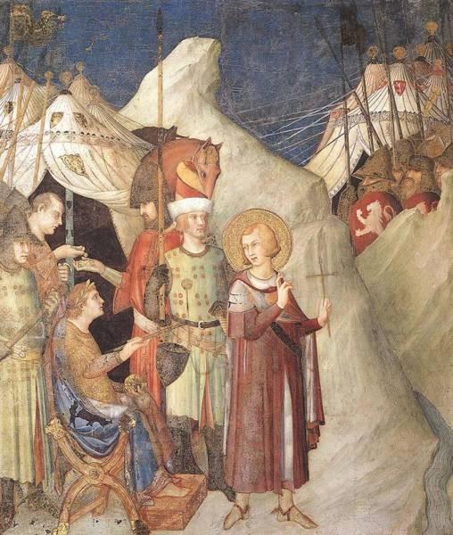 SIMONE MARTINI Saint Martin Renounces His Weapons